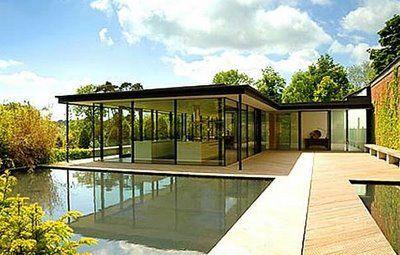Plano de casa moderna for Techos planos modernos