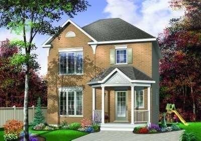 Peque a casa de dos pisos y tres habitaciones for Casas pequenas de dos pisos