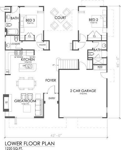 5 planos de casas modernas for Casas modernas 4 cuartos
