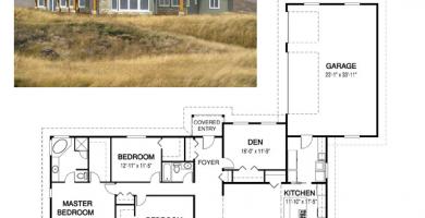 Casa ecologica moderna de campo