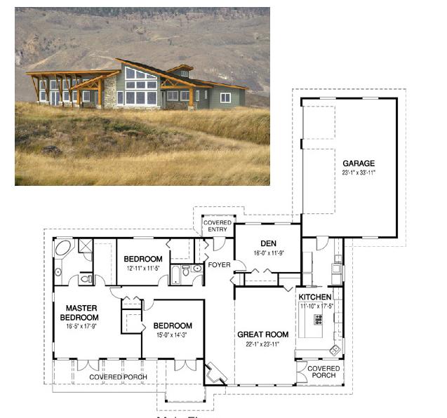 planos de casas grandes de campo