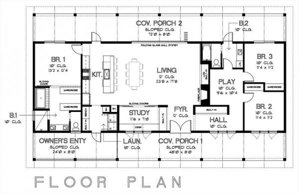 5 planos de casas modernas Home plan drawing