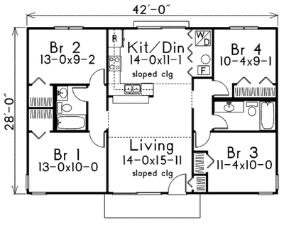 1920 Craftsman Bungalow Style House Plans furthermore 483855553689787860 as well Downing 323 as well Plano De Casa De 4 Habitaciones in addition Draw House Plans Indoor Spaces. on bungalow house floor plans