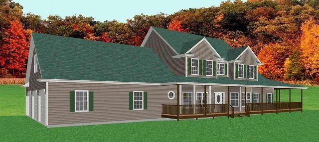 Casa de campo grande con sotano for Casa con grande garage