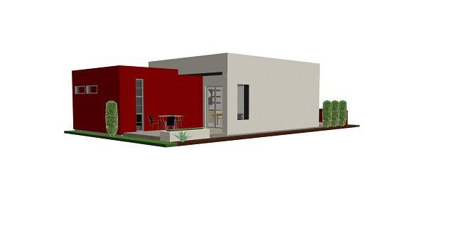 planos de casas modernas de 75 metros cuadrados