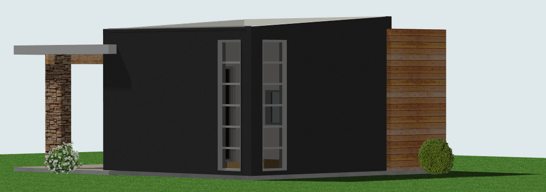 Oficina minimalista for Fachadas oficinas minimalistas