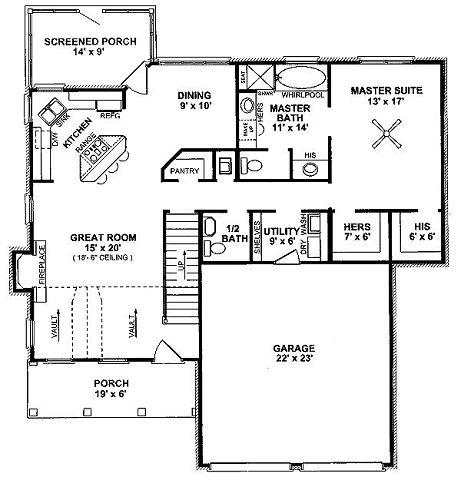 planta baja plano casa tradicional