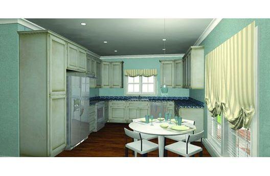 Espaciosa cocina de esta casa estilo clásico