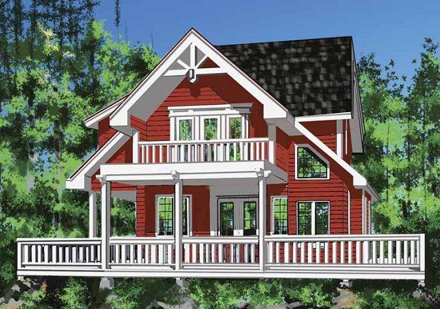 Casa de campo estilo tradicional