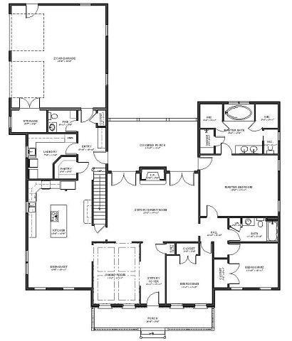 Plano planta baja de Casa súper amplia con 5 dormitorios