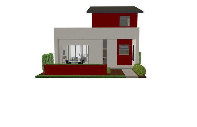 Pequeña casa moderna - Vista de frente