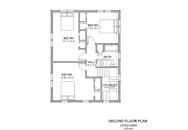 plano de una casa de dos pisos en ingles