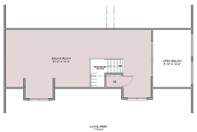 Plano Casa de montaña muy espaciosa - nivel superior