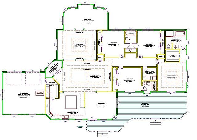 Planos de Muy espaciosa casa de estilo mediterraneo