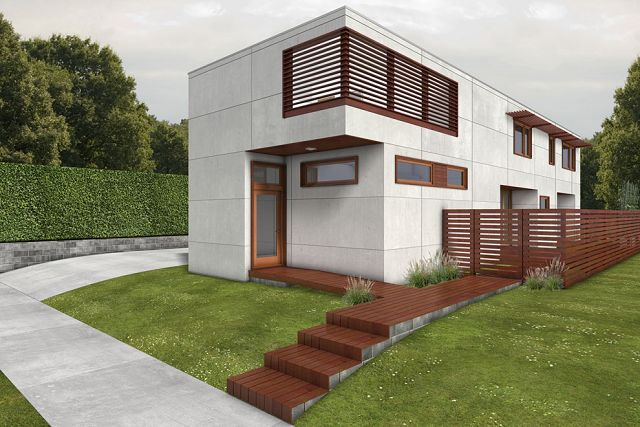 Plano de casa suburbana for Modern green home plans