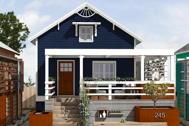 Moderna casa para una comunidad for Cusato cottages