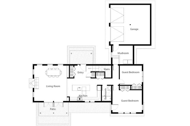 Casa para un retiro rustico - Planos de casas de campo rusticas ...