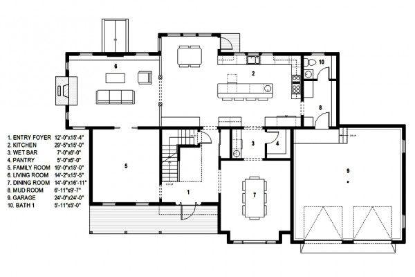 casa contemporanea colonial primer piso