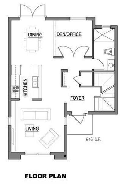 Plano de casa de 3 niveles 2
