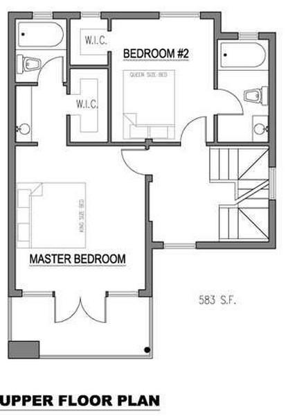 Plano de casa de 3 niveles 3