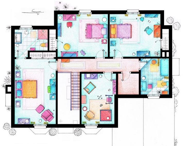 Plano de casa de los Simpson 2