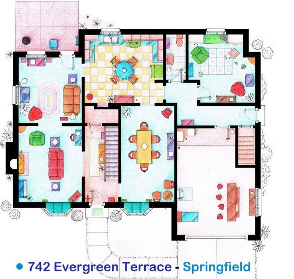 Plano de casa de los Simpson