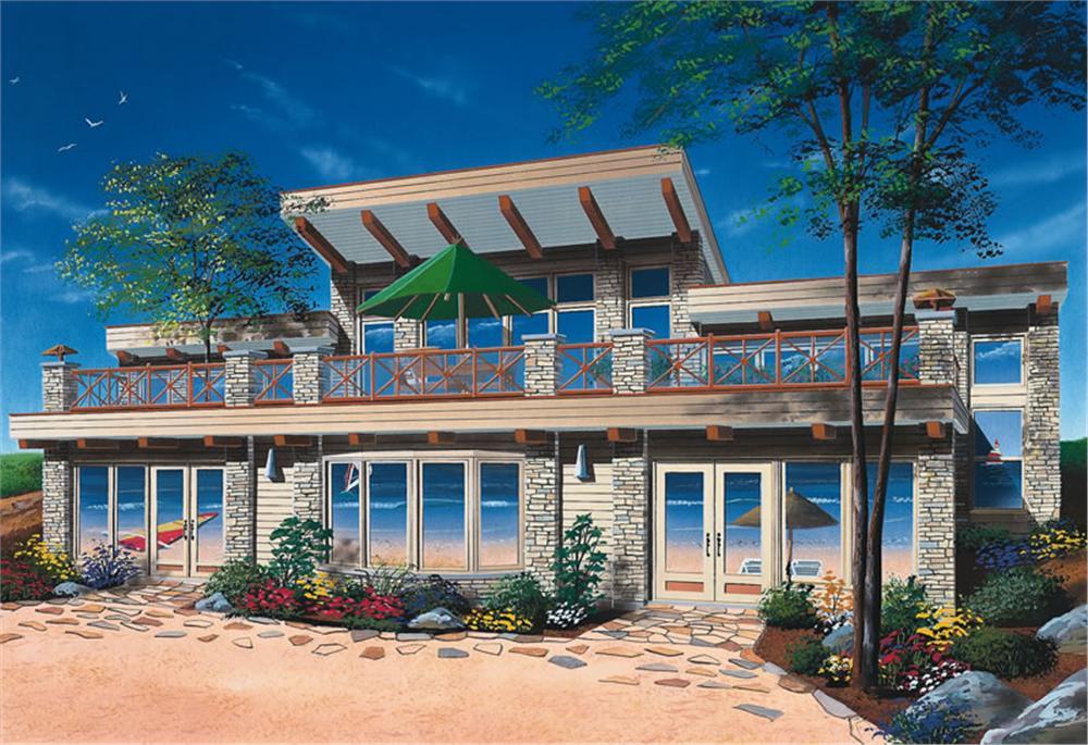 Plano de casa de playa grande for Casas con terrazas modernas