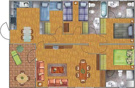 Plano de casa para 8 personas