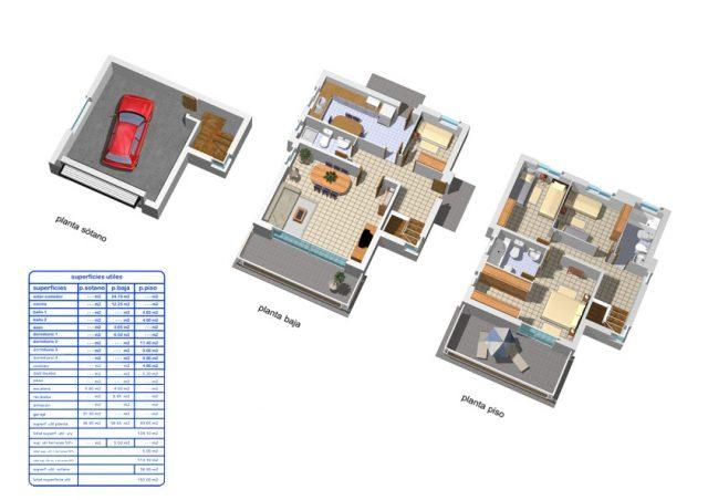 Plano de casa unifamiliar 2