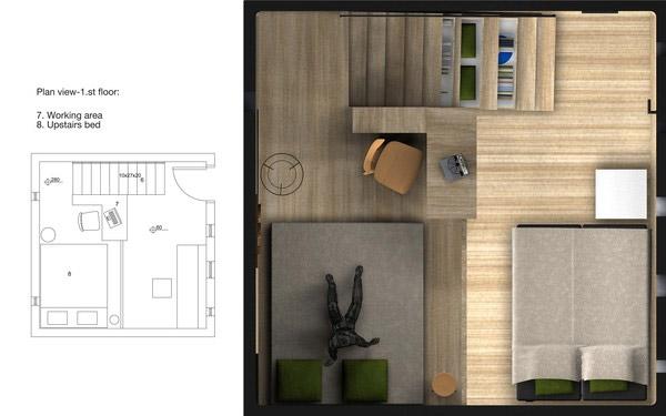 Plano de vivienda modular ecologica 2