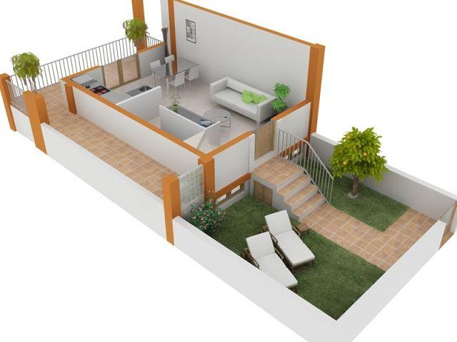 Planos de casas con fachada 2