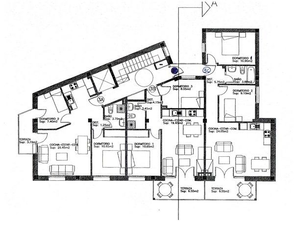 Planos modernos de casas 2014 2015 for Planos de oficinas modernas