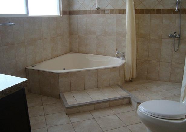 Pisos Para Baño Modernos:jacuzzi tienen distintas opciones En los baños de la planta baja de