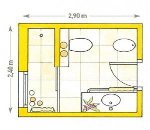 Planos modernos de baños grandes