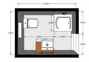 Planos modernos de baños medianos