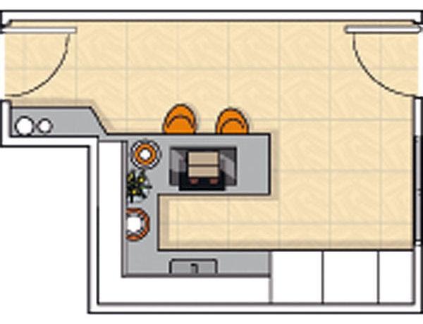 Planos modernos de cocinas compactas for Planos de cocinas grandes
