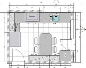 Planos modernos de cocinas de apartamentos