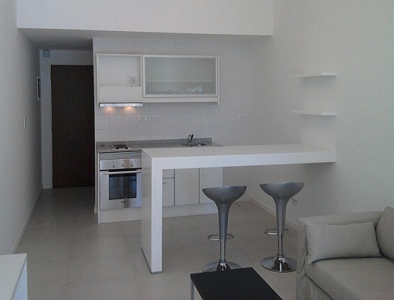 Planos modernos de cocinas en ambiente nico for Cocinas de apartamentos modernos