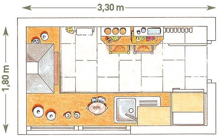 Planos modernos de cocinas medianas for Plano de una cocina de un restaurante