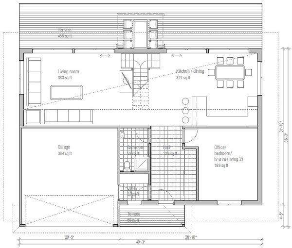 Planos de casas de dos plantas modernas - Planos casas dos plantas ...