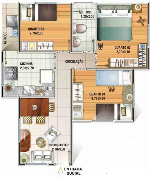 Planos y fachadas de casas econ micas for Planos de casas economicas