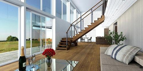 Planos de casas de dos plantas modernas for Sala de estar segundo piso