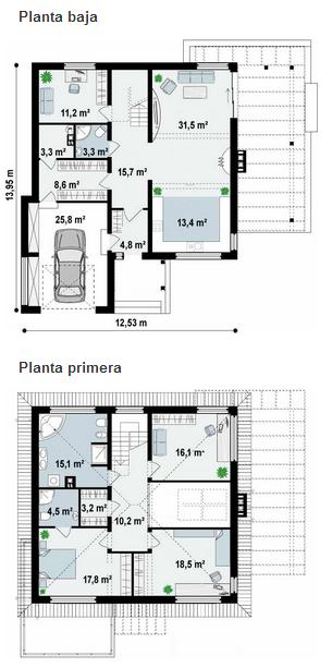 Ver planos y favhadas de casas for Ver planos de casas