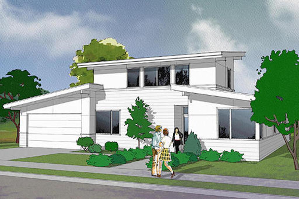 Planos de casas de dos niveles for Planos de casas de dos cuartos