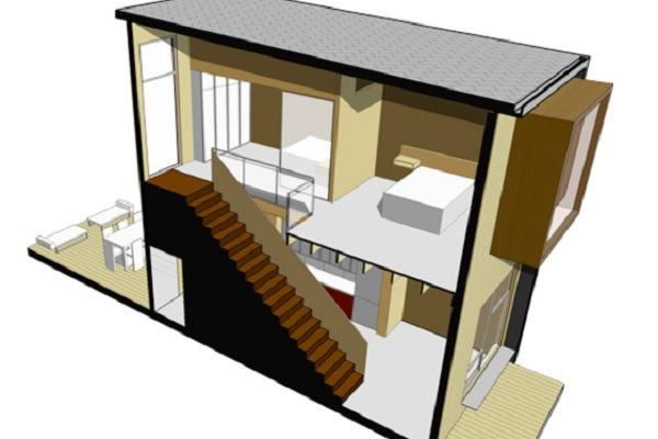 Baño Bajo Escalera Plano:Planos de casas pequeñas de dos plantas