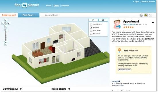 Hacer planos de casas for Programa amueblar habitacion