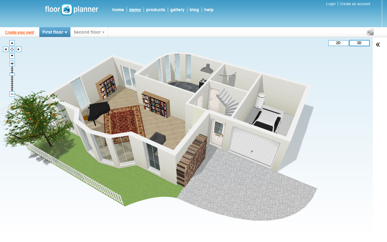 Hacer planos de casas for Www floorplanner