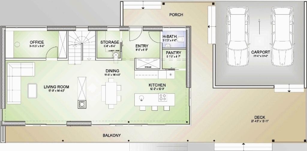 Modelos de planos de casas for Planos para cocinas modernas
