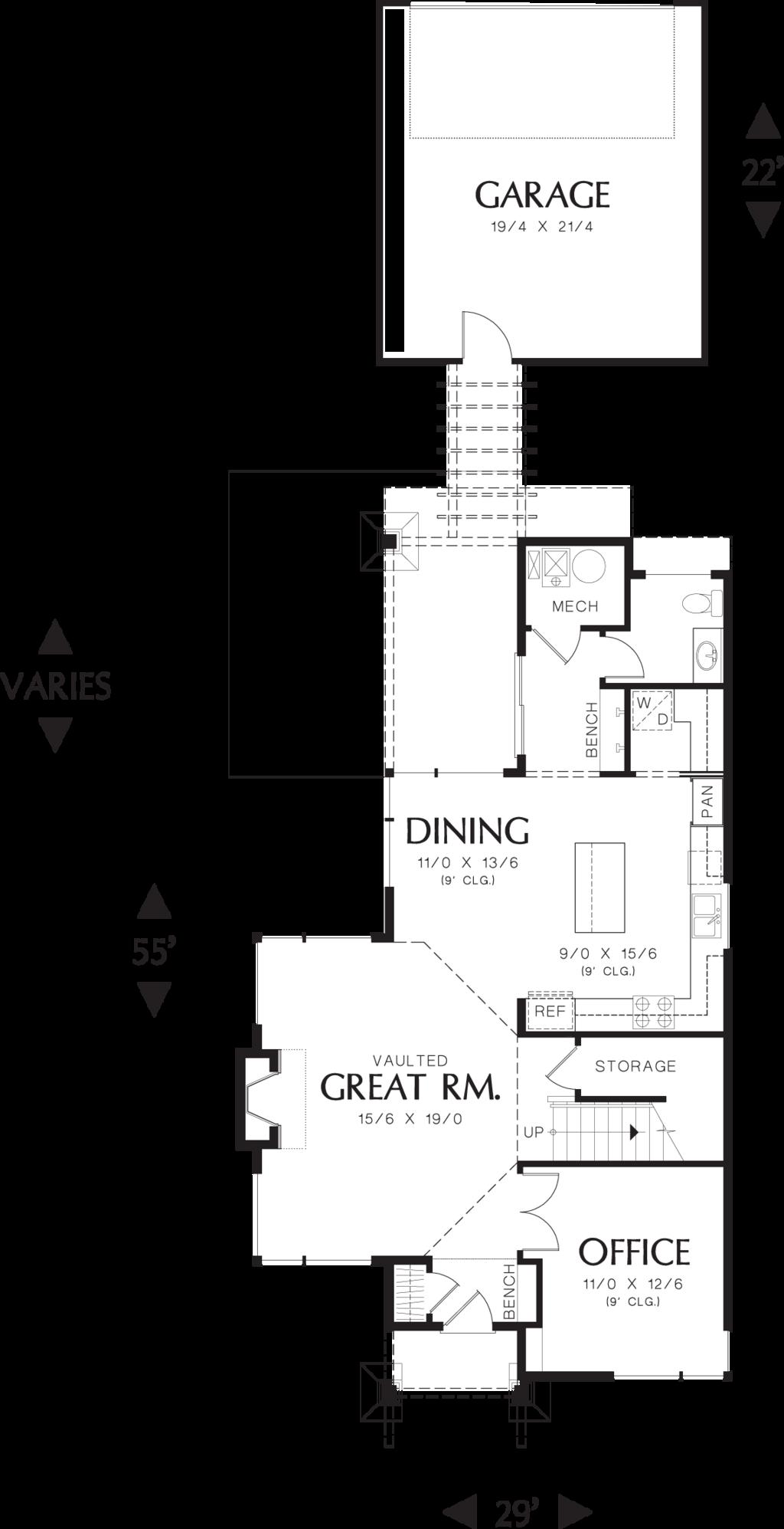 Planos de casas con medidas en metros for Sala de estar dimensiones