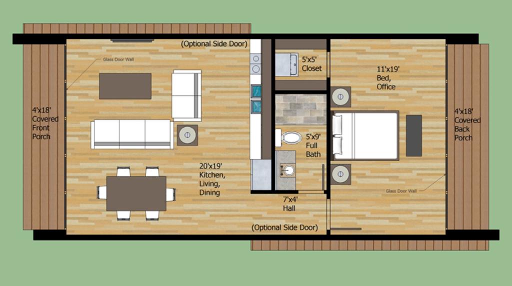 Planos de casas de 1 piso for Distribucion de casas modernas